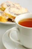 Torta con tè Immagine Stock Libera da Diritti