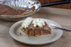 Torta crema del cioccolato Fotografia Stock