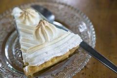 Torta crema della noce di cocco Fotografia Stock