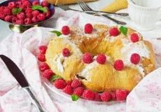 Torta crema squisita Fotografia Stock Libera da Diritti