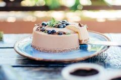 Torta cremosa deliciosa Fotos de archivo libres de regalías