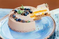 Torta cremosa deliciosa Imagen de archivo