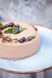 Torta cremosa deliciosa Imagen de archivo libre de regalías