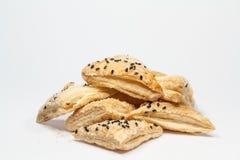 Torta croccante del sesamo fotografia stock