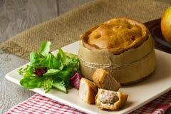 Torta in crosta di carne di maiale di Melton Mowbray Fotografia Stock Libera da Diritti