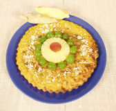 Torta da banana Imagens de Stock