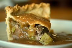 Torta da carne de porco, da maçã e da cidra Foto de Stock Royalty Free