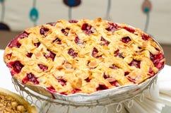Torta da cereja ácida Fotografia de Stock