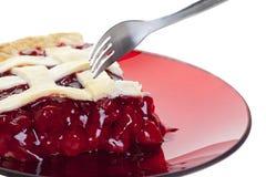 Torta da cereja Fotografia de Stock