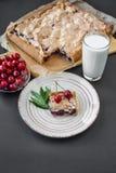 Torta da cereja com porcas Imagem de Stock