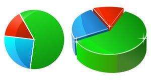 Torta da estatística Imagens de Stock