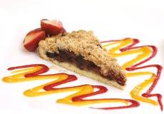 Torta da framboesa com morango Fotografia de Stock Royalty Free