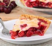 Torta da fruta da cereja Fotografia de Stock