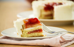 Torta da morango Imagens de Stock