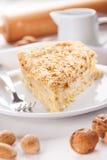 Torta da panqueca com porcas Imagens de Stock Royalty Free