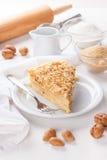 Torta da panqueca com porcas Imagens de Stock