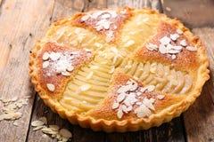 Torta da pera com amêndoas Fotos de Stock Royalty Free