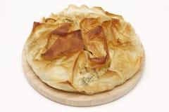 Torta da ricota dos espinafres Fotografia de Stock