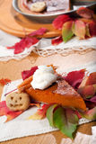 Torta de abóbora Fotografia de Stock
