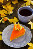 Torta de abóbora Foto de Stock Royalty Free