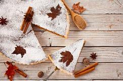 Torta de abóbora caseiro Foto de Stock Royalty Free