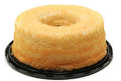 Torta de alimento de ángel Fotos de archivo libres de regalías