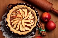 Torta de Apple Fotografia de Stock