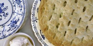 Torta de Apple caseiro. Imagem de Stock