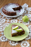 Torta de Apple com canela Fotografia de Stock