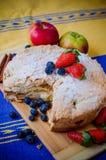 Torta de Apple com frutas Imagens de Stock Royalty Free