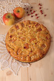 Torta de Apple com maçã Imagem de Stock Royalty Free