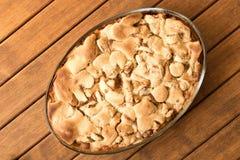Torta de Apple recentemente cozida Fim acima homemade pronto para comer Parte superior v fotografia de stock