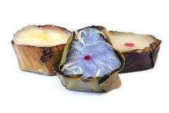 Torta de arroz china del ` s del Año Nuevo de Nian Gao en el fondo blanco Fotos de archivo libres de regalías