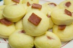 Torta de arroz cocida al vapor caliente Foto de archivo libre de regalías