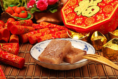 Torta de arroz de la haba roja Fotos de archivo libres de regalías