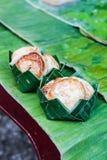 Torta de arroz del coco Fotos de archivo libres de regalías