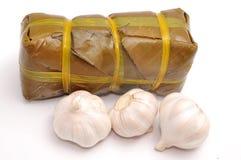 Torta de arroz pegajoso cilíndrica vietnamita foto de archivo libre de regalías