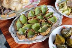 Torta de arroz pegajoso o Nian Gao para el respecto de la paga al antepasado, al Año Nuevo chino y al festival de Qingming imágenes de archivo libres de regalías