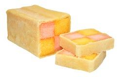 Torta de Battenberg Imagen de archivo libre de regalías