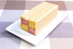 Torta de Battenberg Foto de archivo libre de regalías