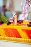 Torta de Birhday Imágenes de archivo libres de regalías