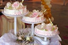 Torta de boda Imagen de archivo libre de regalías