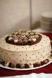Torta de boda blanca Fotografía de archivo libre de regalías