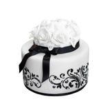 Torta de boda blanco y negro Fotos de archivo libres de regalías