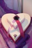 Torta de boda de Heartshape Fotografía de archivo