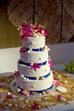 Torta de boda del tema de la playa Imagenes de archivo