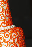 Torta de boda india del diseño Imagen de archivo