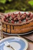 Torta de Brithday Imagen de archivo libre de regalías