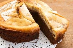 Torta de Brownie Cheese Fotografía de archivo libre de regalías