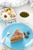Torta de café Foto de archivo libre de regalías
